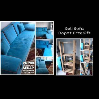 Sofa 3 Seater + FREE GIFT