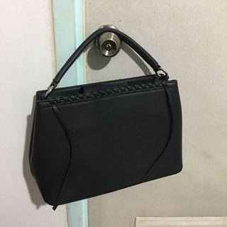 Zalora Black Work Bag w/ Braided Detail
