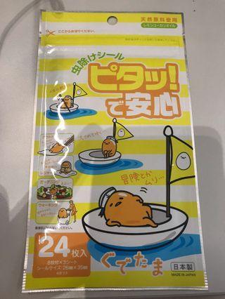 日本制 兒童蛋黃哥防蚊貼 24枚