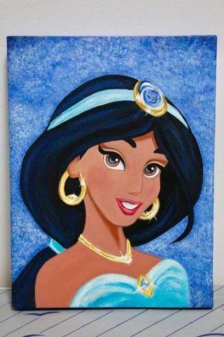 Jasmine acrylic painting