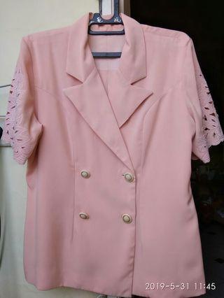 Blazer Pink Pendek