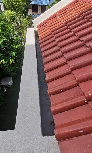 Leaking roof helps help? Balcony Gutter drains