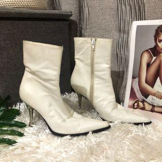 Auth Cassucio & Scalera White Boots