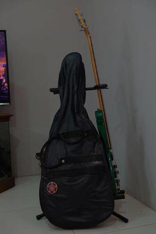 Paket Gitar listrik ibanez & bass aria senar 5 dan sound samick