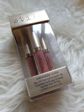 Stila liquid lipstick mini x3