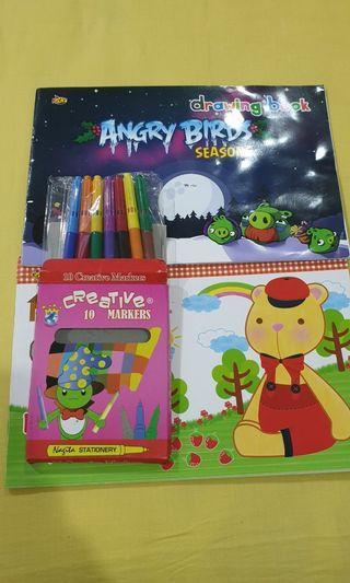 Drawing book kiky + pensil Warna