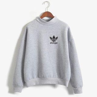 Comfy 'stranger' printed sweatshirt