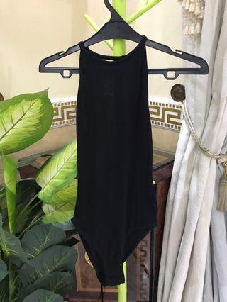 H&M Divided Black Halter Neck Bodysuit