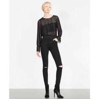 NEW Zara Ripped Knee Denim / Jeans