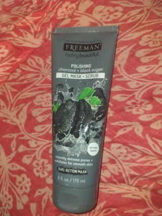 Freeman mask polishing charcoal+black sugar