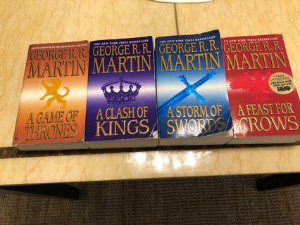 Game of Thrones first 4 books (A Song Of Ice and Fire) (paperback)