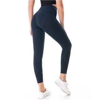 🚚 (免運) 高質量經典拼接塑身瑜珈褲