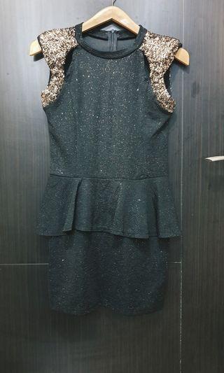 Peplum sequins dress