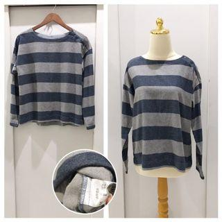 Grey Stripe Japan Sweater