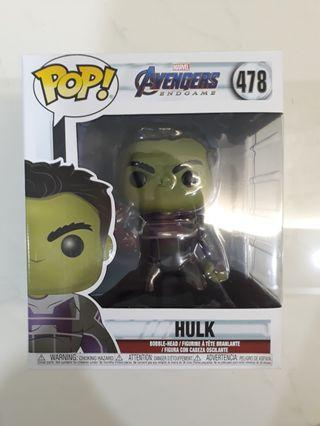 Hulk 6inch funko end game with nano gaunlet
