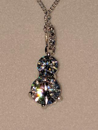 Bevilles Silver Crystal necklace