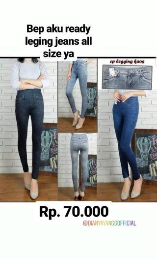 Legging Jeans all size fit to XP
