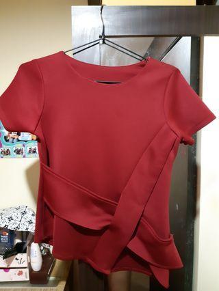 Blouse / blouse merah / blouse maroon