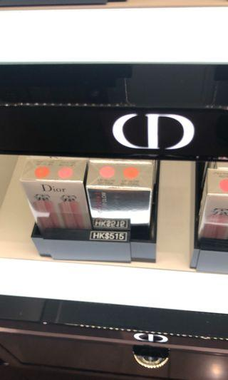 Christian Dior lip travel set x2, 001 pink 004 coral, 100%new n authentic