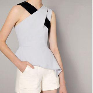 Saturday Club Asymmetric Top With Contrast Interlace Strap