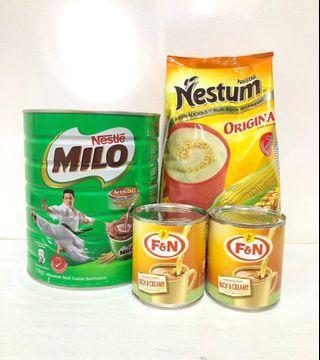 Milo + Nestle Nestum + Sweetened Creamer Bundle