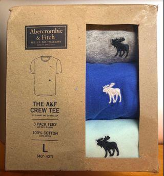 NEW三件A&F短袖T恤 3 pcs Abercrombie & Fitch short sleeves T shirt