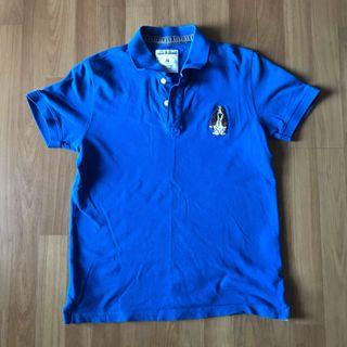 Authentic hush puppies polo tee shirt blue