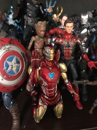 Shf Ironman MK 85 head tony damaged head marvel legends avengers endgame