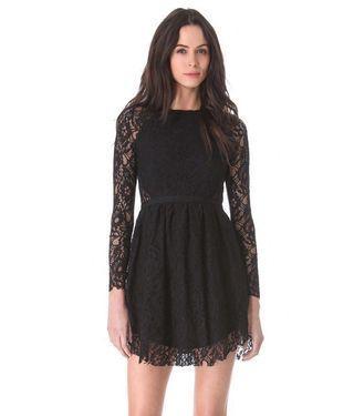 Stylestalker Black Lace Vortex Dress
