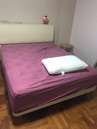 Queen size bed plus mattress