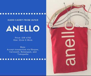 Red Anello bag original from Japan tas kanvas Anello merah asli murah