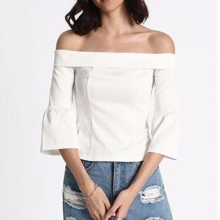 Love Bonito Omira Off Shoulder Top (White)