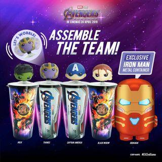 GSC Avengers Tumbler and Iron Man Container
