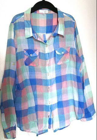 Cotton On Light Checkered Polo Large