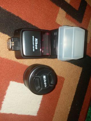 Lens 50mm & Speedlite