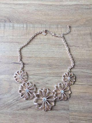 Lovisa Rose Gold Flower Necklace