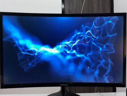 "Samsung 24"" curved monitor ( used )"