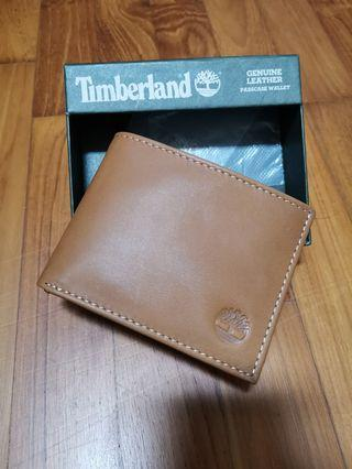 Brand new with tag in box original Timberland Men Leather Light Brown Wallet