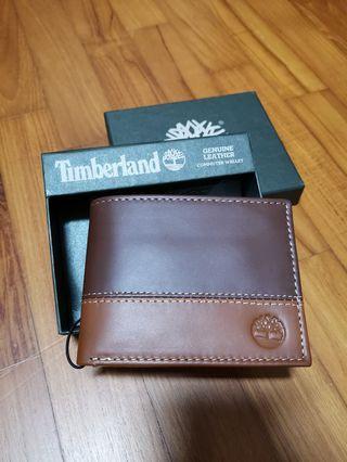 Brand new with tag in box original Timberland men leather wallet colour Brown