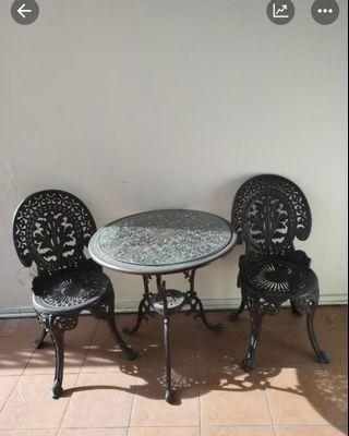 Cast Iron Garden table with  chairs set
