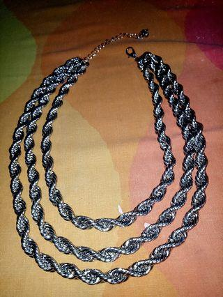 stainless steel 3layer necklace