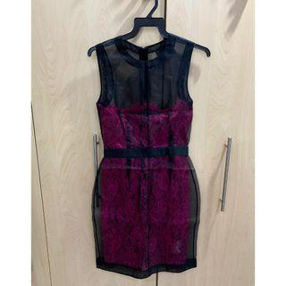 Authentic Dolce & Gabbana Sheer Lace Dress UK 6