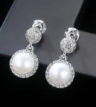 S925純銀珍珠耳環