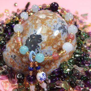 DIY Aquamarine Bracelet with Charm