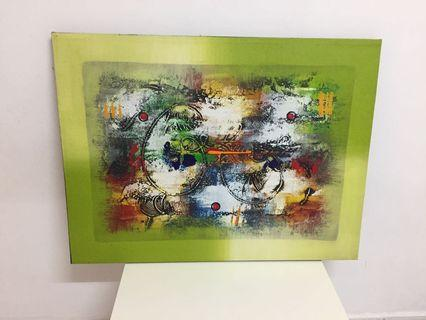Abstract Oil Painting Handmade from Bali