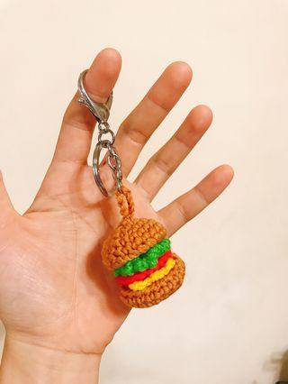 手織小漢堡鑰匙圈❤️