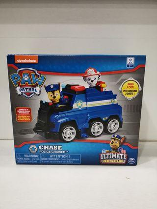 Brand new in box Nickelodeon Paw Patrol Chase Police Cruiser Ultimate rescue including main pup