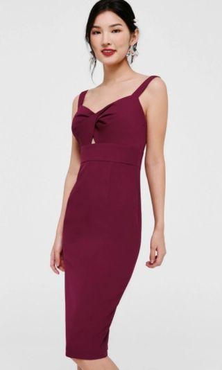 🚚 [BRAND NEW] LOVE BONITO - Dorian Twist Front Midi Dress