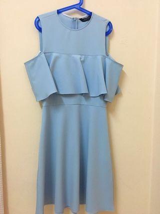 Zara baby blue dress