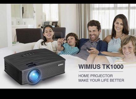 WiMiUS TK1000 Mini Projector, Upgraded 2600 Lumens Mini Projector